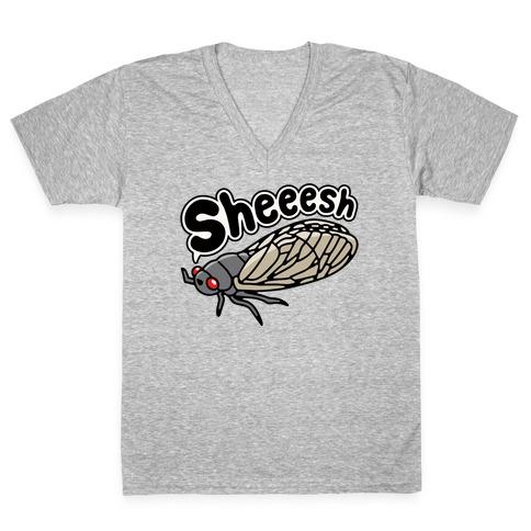 Sheeesh Cicada V-Neck Tee Shirt