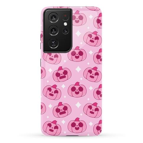 Kawaii Pumpkins Pattern Pink Phone Case