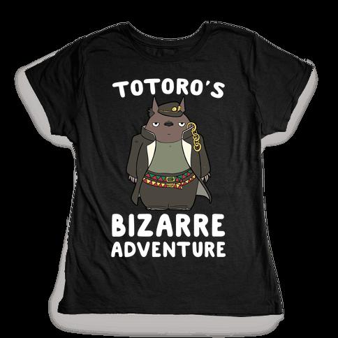 Totoro's Bizarre Adventure  Womens T-Shirt