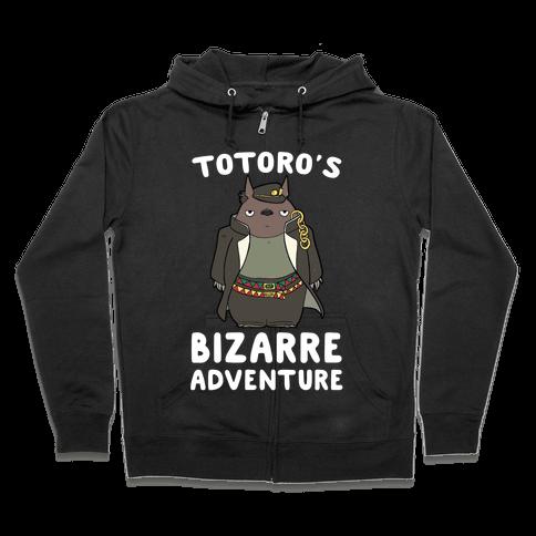 Totoro's Bizarre Adventure  Zip Hoodie