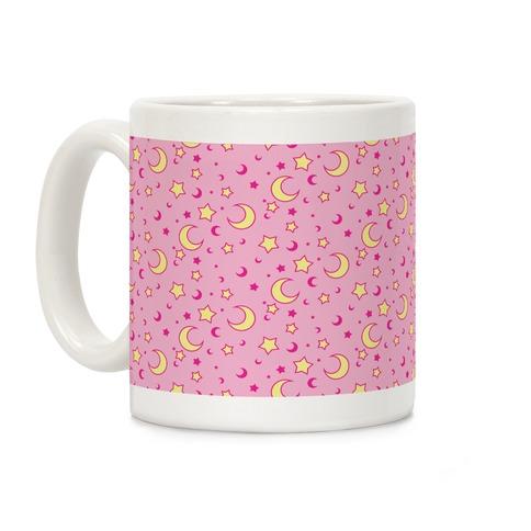 Dreamy Pastel Moon And Stars Coffee Mug