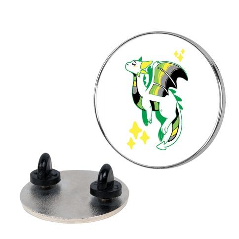 Aromantic Pride Dragon Pin