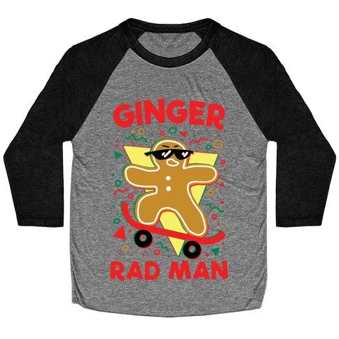 Ginger Rad Man Baseball Tee