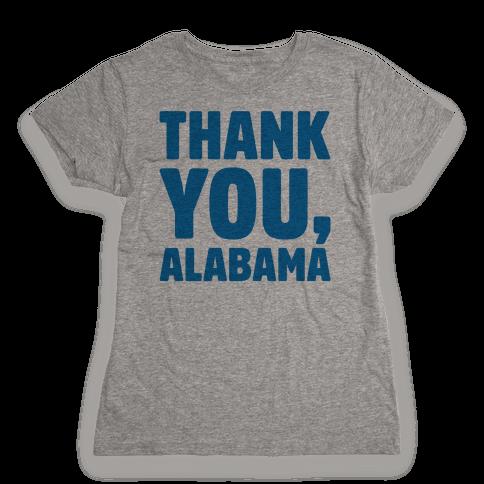 Thank You Alabama  Womens T-Shirt