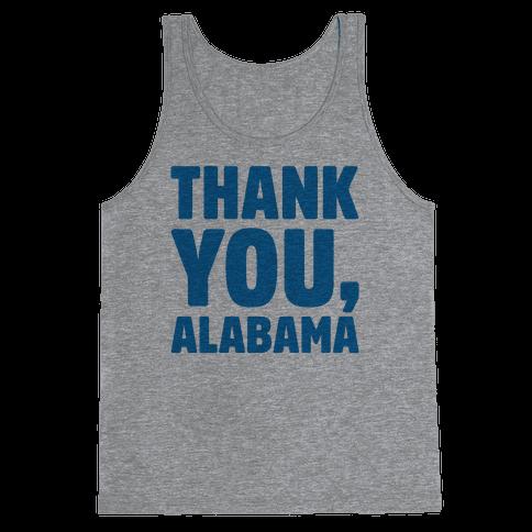 Thank You Alabama  Tank Top