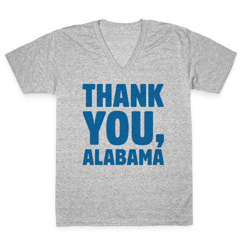 Thank You Alabama  V-Neck Tee Shirt