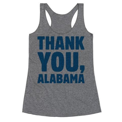 Thank You Alabama Racerback Tank Top