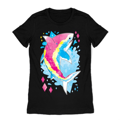 Pride Sharks: Pan Womens T-Shirt