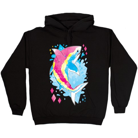 Pride Sharks: Pan Hooded Sweatshirt