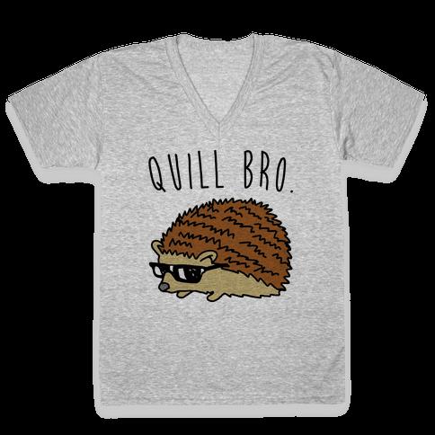 Quill Bro  V-Neck Tee Shirt