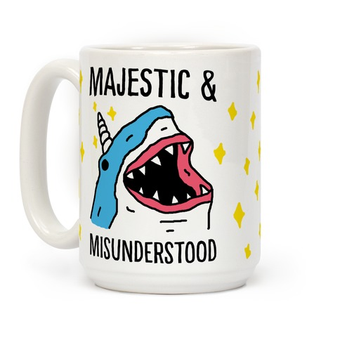 Majestic And Misunderstood Shark Coffee Mug