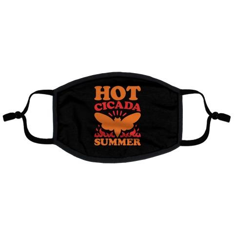 Hot Cicada Summer Parody Flat Face Mask