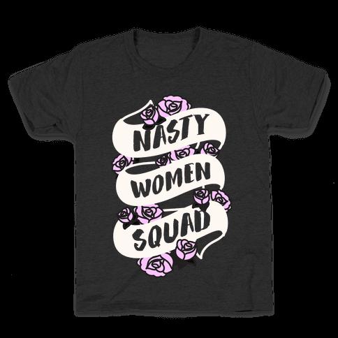 Nasty Women Squad (White) Kids T-Shirt