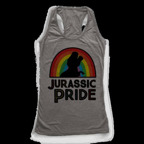 Jurassic Pride Parody Racerback Tank Top