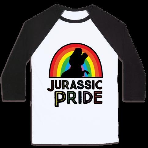Jurassic Pride Parody Baseball Tee