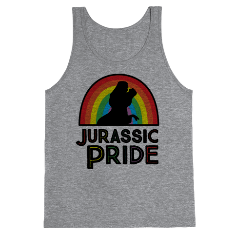 Jurassic Pride Parody Tank Top