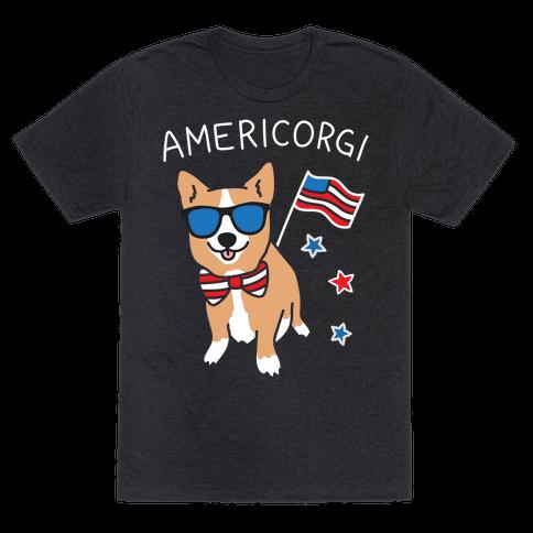AmeriCorgi Patriotic Corgi Mens T-Shirt