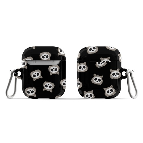 Raccoon Skull Pattern AirPod Case