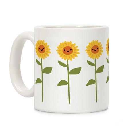 Happy Sunflower Pattern Coffee Mug