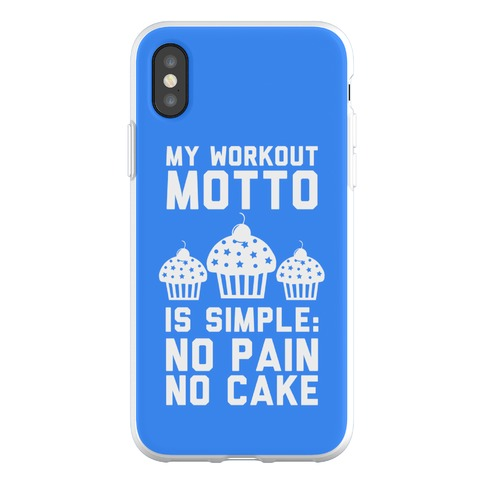 No Pain No Cake Phone Flexi-Case