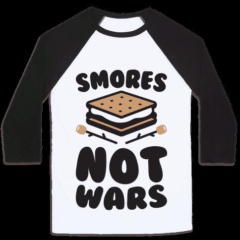 Smores Not Wars (CMYK) Baseball Tee