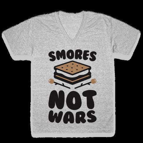 Smores Not Wars (CMYK) V-Neck Tee Shirt