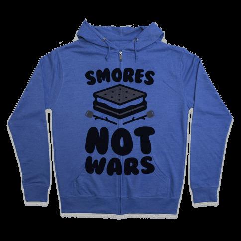 Smores Not Wars (CMYK) Zip Hoodie