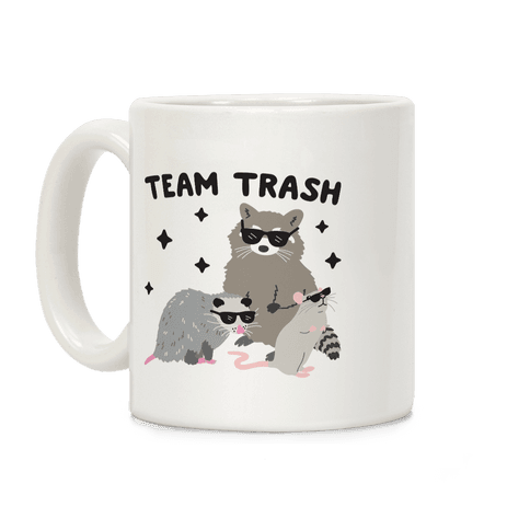 Team Trash Opossum Raccoon Rat Coffee Mug
