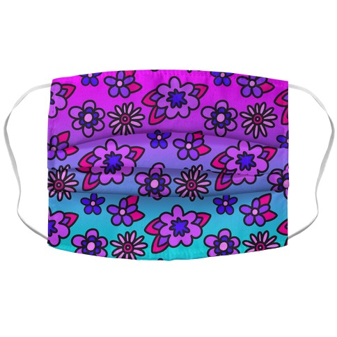Funky Fresh Floral Accordion Face Mask