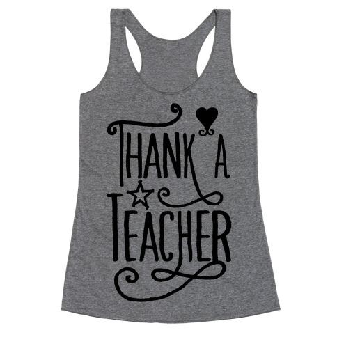 Thank A Teacher Racerback Tank Top