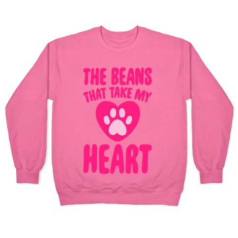 The Beans That Take My Heart White Print Pullover