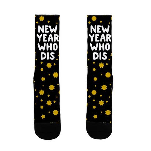 New Year Who Dis Sock
