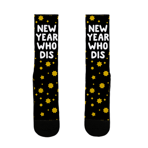 New Year Who Dis Sock