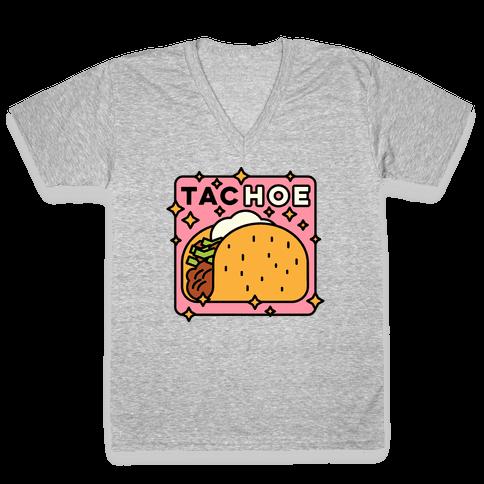 Tac Hoe V-Neck Tee Shirt