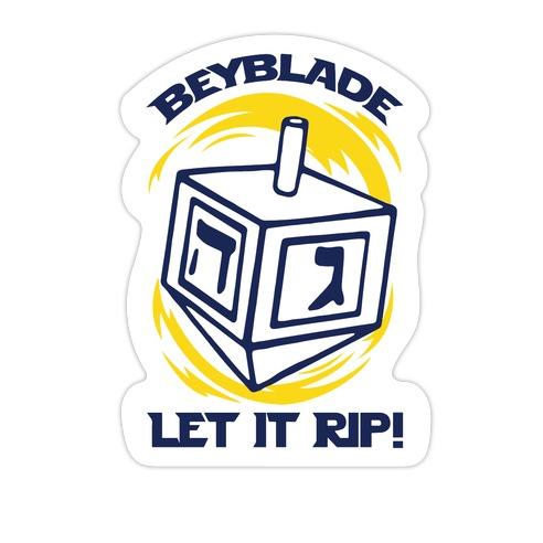 Beyblade Let It Rip Dreidel  Die Cut Sticker
