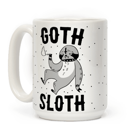 Goth Sloth Coffee Mug