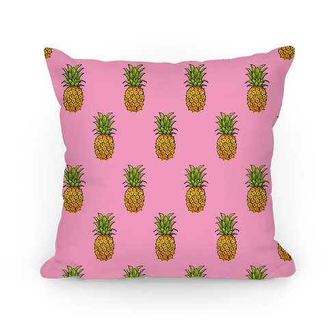 Pink Pineapple Pattern Pillow