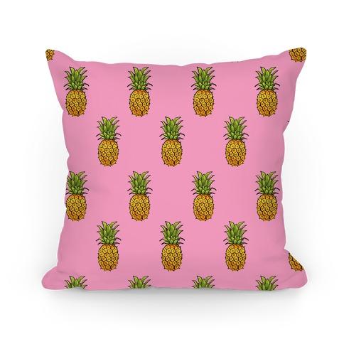 Pink Pineapple Pattern Pillow