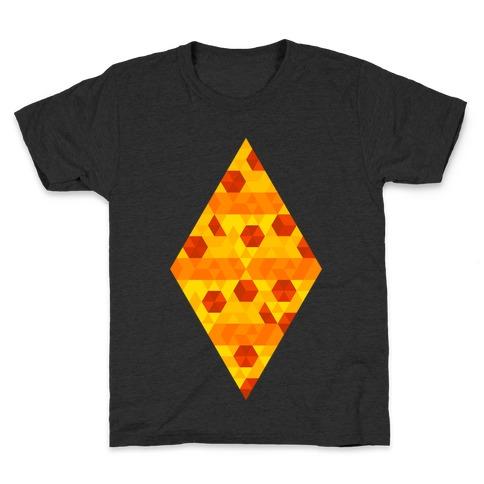 Geometric Pizza Tessellation Kids T-Shirt