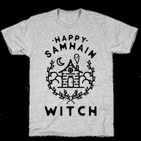 Happy Samhain Witch Mens/Unisex T-Shirt