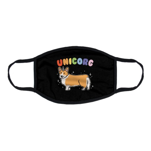 Unicorg Parody Flat Face Mask