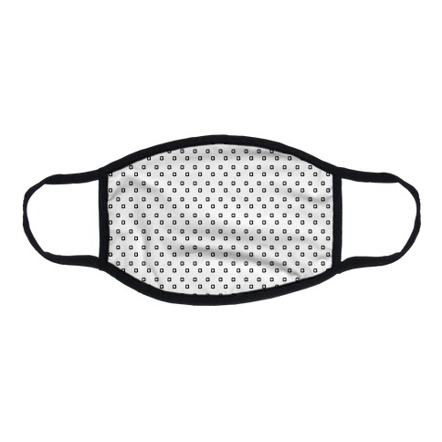 Dainty Squares Pattern White Flat Face Mask