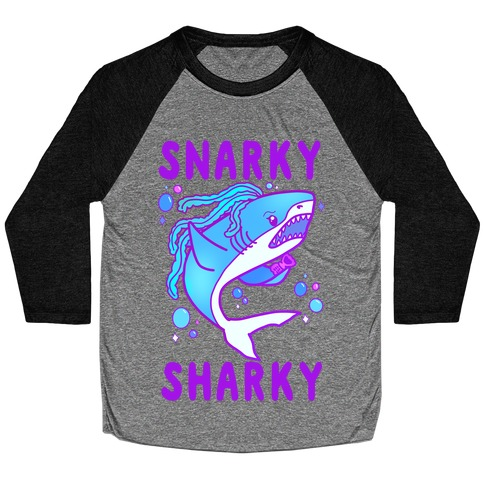 Snarky Sharky Baseball Tee
