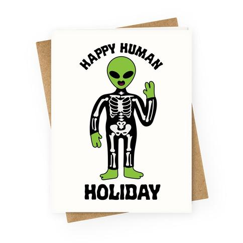 Happy Human Holiday Greeting Card