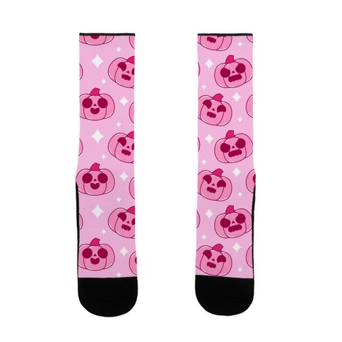 Kawaii Pumpkins Pattern Pink Sock