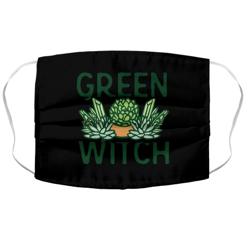 Green Witch Face Mask Cover