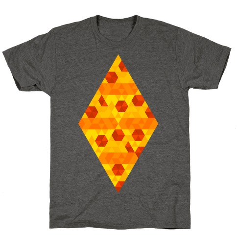 Geometric Pizza Tessellation T-Shirt