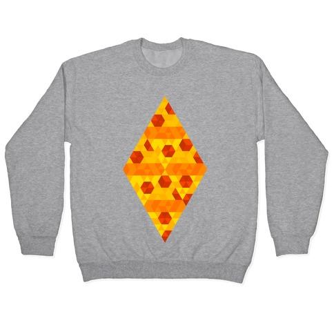 Geometric Pizza Tessellation Pullover