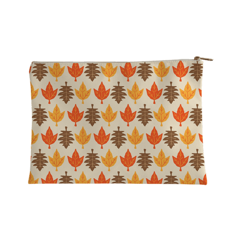 Autumn Leaves Pattern Accessory Bag