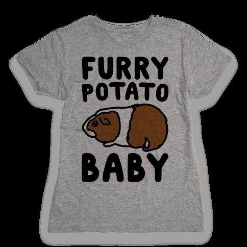 Furry Potato Baby Guinea Pig Parody Womens T-Shirt
